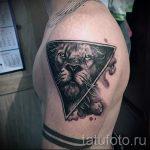 Tattoo Lion im Dreieck - Foto Beispiel eines kühlen Tätowierung auf 14072016 1
