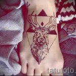 Tattoo-Reh im Dreieck - Foto Beispiel eines kühlen Tätowierung auf 14072016 1