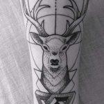 Tattoo-Reh im Dreieck - Foto Beispiel eines kühlen Tätowierung auf 14072016 2