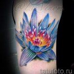 Tattoo Seerose - Foto Beispiel der Tätowierung 13072016 2
