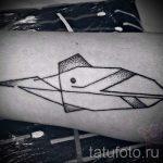 Tattoo-Set Geometrie - ein Foto der fertigen Version der Tätowierung 14072016 1