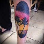 Tattoo-Sonnenuntergang - cool Foto des fertigen Tätowierung auf 14072016 2