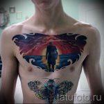Tattoo-Sonnenuntergang - cool Foto des fertigen Tätowierung auf 14072016 3