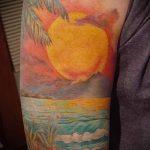 Tattoo-Sonnenuntergang - cool Foto des fertigen Tätowierung auf 14072016 4