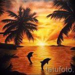 Tattoo-Sonnenuntergang - cool Foto des fertigen Tätowierung auf 14072016 5