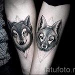 Tattoo Wolf im Dreieck - Foto Beispiel eines kühlen Tätowierung auf 14072016 1