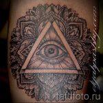 Tattoo-sehende Auge im Dreieck von Wert - ein Beispiel für ein cooles Tattoo Foto auf 14072016 2