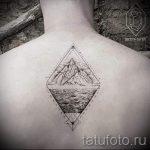 Tattoo zwei Dreiecke - Foto Beispiel eines kühlen Tätowierung auf 14072016 1