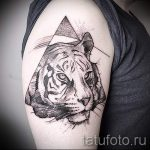 Tiger in a triangle tattoo - Photo example of a cool tattoo on 14072016 1