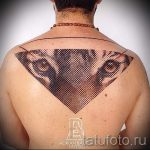 Tiger in a triangle tattoo - Photo example of a cool tattoo on 14072016 2