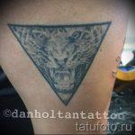 Tiger in einem Dreieck Tätowierung - Foto Beispiel eines kühlen Tätowierung auf 14072016 1