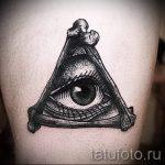 Triangle Eye Tattoo - ein Foto Beispiel für ein cooles Tattoo auf 14072016 2
