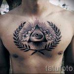 Triangle Tätowierung auf seiner Brust - Photo Beispiel eines kühlen Tätowierung auf 14072016 1