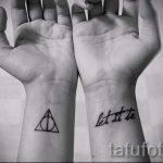 Triangle Tattoo auf dem Handgelenk - Foto Beispiel eines kühlen Tätowierung auf 14072016 1