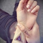 Triangle tattoo on the wrist - Photo example of a cool tattoo on 14072016 1