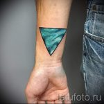 Triangle tattoo on the wrist - Photo example of a cool tattoo on 14072016 2