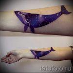 Wal-Tattoo auf dem Arm Bilder - fertige Version der Tätowierung 14072016 2