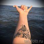 fleurs dans un tatouage triangle - exemple photo d'un tatouage frais sur 14072016 1