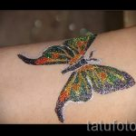 glitter papillon de tatouage - photo exemple de 24072016 2