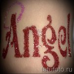 glitter tattoo angel - Photo example of 24072016 1