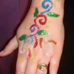 glitter tattoo for brides - Photo example of 24072016 1
