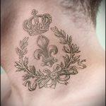heraldische Lilie Tattoo - Foto Beispiel der Tätowierung 13072016 1