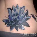 lily tatouage sur le bas du dos - exemple photo du tatouage 13072016 3