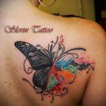 lily tatouage sur l'omoplate - Photo exemple du tatouage 13072016 1