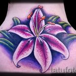 lily tatouage sur son cou - exemple photo du tatouage 13072016 1
