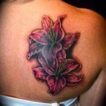 lily tatouage sur son dos - par exemple Photo du tatouage 13072016 1