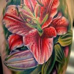 lily tattoo color - Photo example of the tattoo 13072016 1