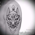 loup tatouage dans le triangle - Photo exemple d'un tatouage frais sur 14072016 1