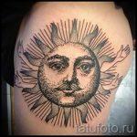 soleil avec un tatouage du visage - une photo fraîche du tatouage fini sur 14072016 1