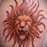soleil avec un tatouage du visage - une photo fraîche du tatouage fini sur 14072016 3