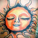 soleil couleur de tatouage - photo fraîche du tatouage fini sur 14072016 1