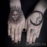 soleil et la lune tatouage - une photo fraîche du tatouage fini 14072016 2