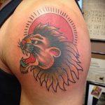 soleil lion tatouage - une photo fraîche du tatouage fini 14072016 1