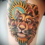 soleil lion tatouage - une photo fraîche du tatouage fini 14072016 2