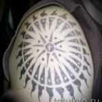 soleil tatouage sur son épaule - une photo fraîche du tatouage fini 14072016 1