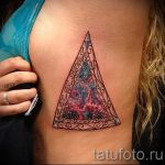 space in the triangle tattoo - Photo example of a cool tattoo on 14072016 4