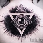 tatouage Triangle Eye - un exemple de photo d'un tatouage frais sur 14072016 2