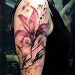 tatouage aquarelle lily - Photo exemple du tatouage 13072016 3