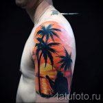 tatouage coucher de soleil - photo fraîche du tatouage fini sur 14072016 1