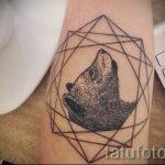 tatouage d'ours dans le triangle - Photo exemplaire d'un tatouage frais sur 14072016 1