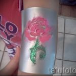 tatouage paillettes rose - Photo exemple 24072016 1