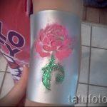 tatouage paillettes rose - Photo exemple 24072016 1