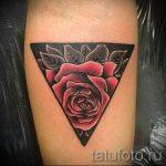 tatouage rose dans le triangle - Photo exemple d'un tatouage frais sur 14072016 1