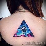 tatouage triangle sur le dos - exemple photo d'un tatouage frais sur 14072016 1