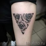 tattoo rose in the triangle - Photo example of a cool tattoo on 14072016 1