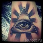 tattoo-seeing eye in the triangle of value - an example of a cool tattoo photo on 14072016 2